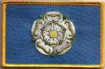 Yorkshire Embroidered Flag Patch, style 08.